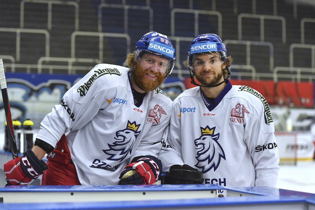 Jakub Voráček a Michael Frolík, tahouni českého národního týmu pro MS v Bratislavě