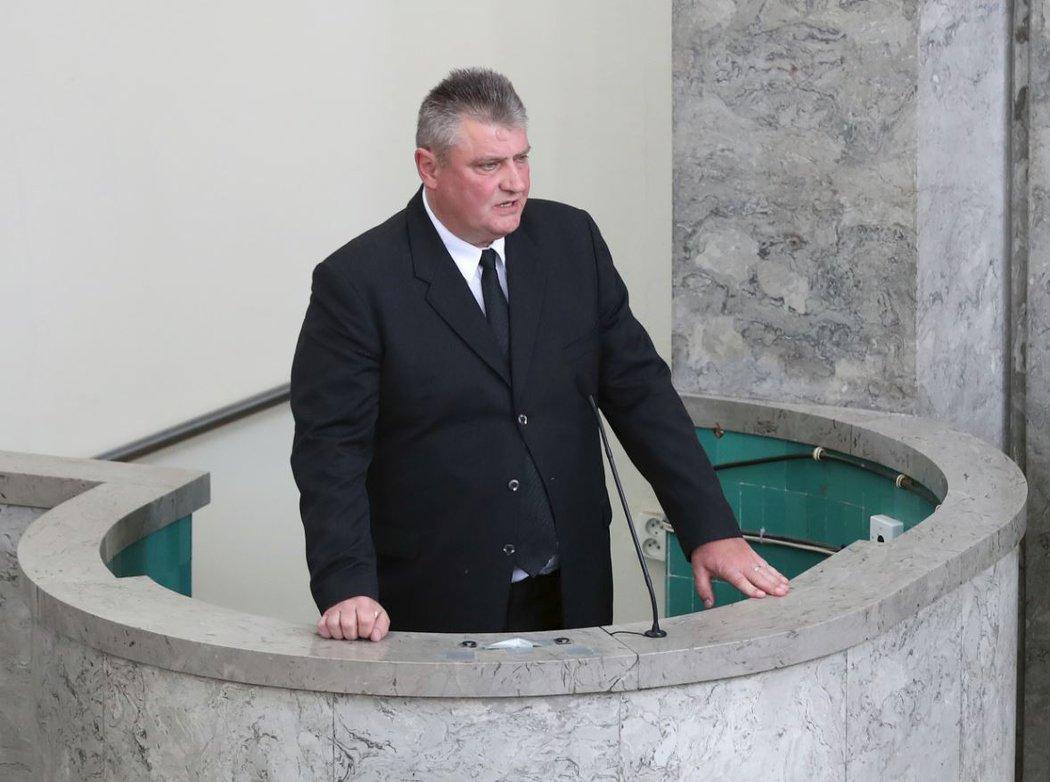 Ivo Kaderka pronesl smuteční řeč