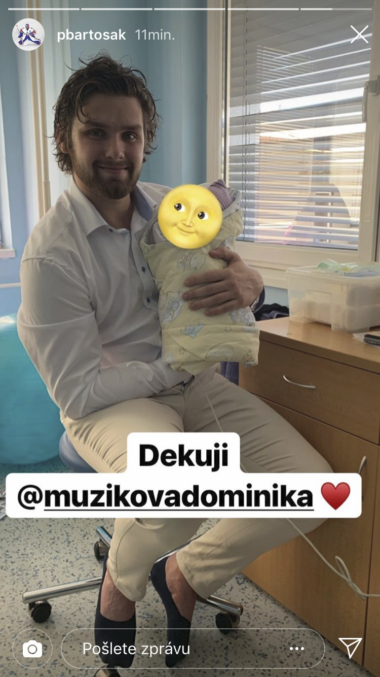 Patrik Bartošák se pochlubil synkem na Instagramu