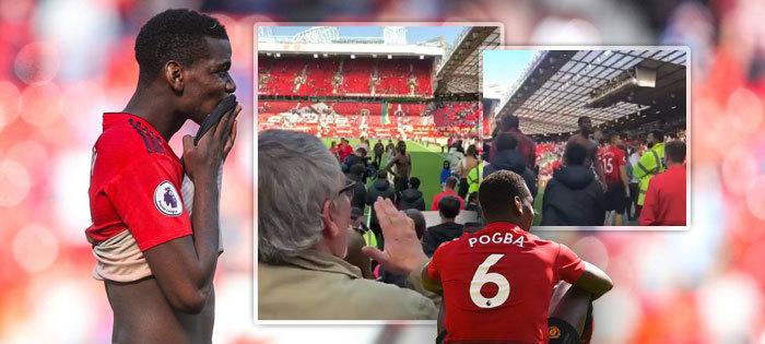 Paul Pogba si od fanoušků po posledním zápase sezony vyslechl své
