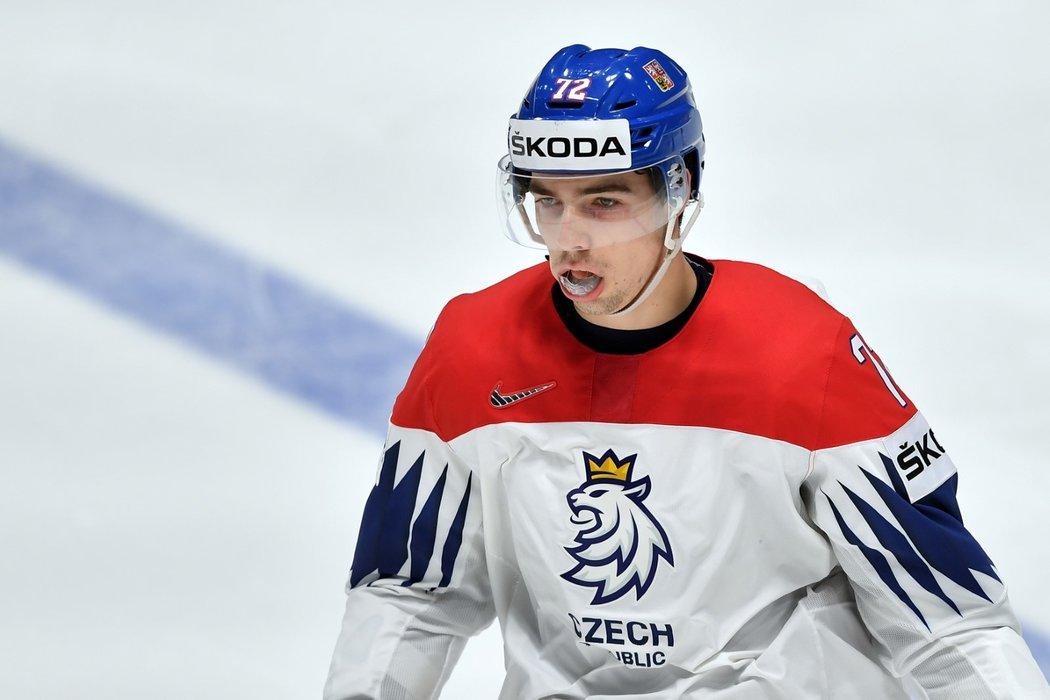 Nejmladší člen české reprezentace Filip Chytil zatím na šampionátu hodně koluje sestavou