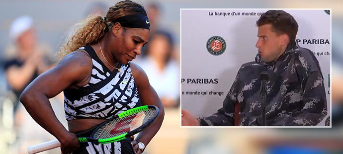 Dominic Thiem musel ustoupit, když na tiskovou konferenci dorazila vyřazená Serena Williamsová