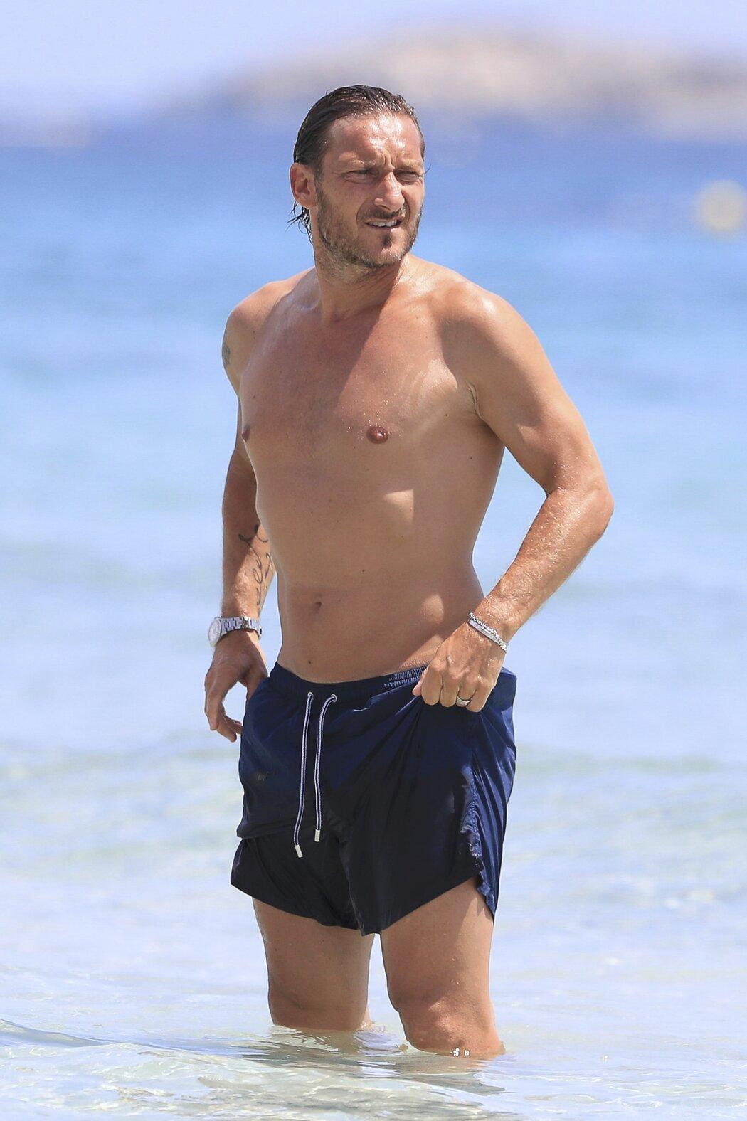 Legenda AS Řím Totti na dovolené