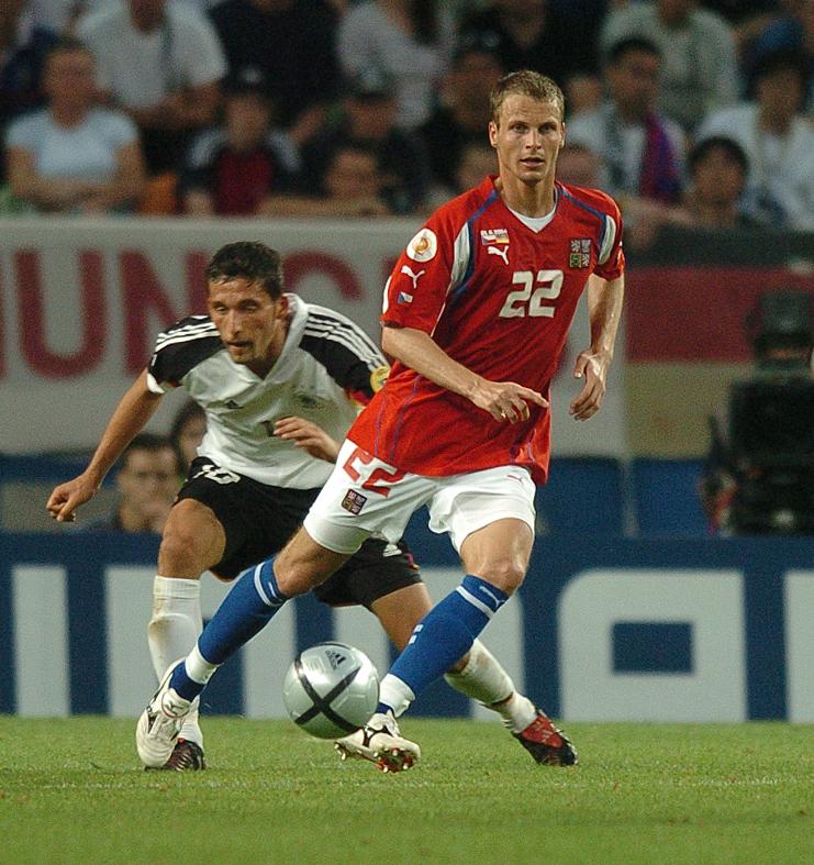 David Rozehnal při zápase proti Německu (2:1) na EURO 2004