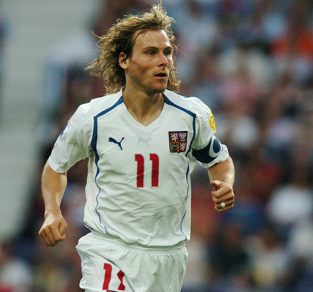 Pavel Nedvěd, kapitán českého týmu na EURO 2004