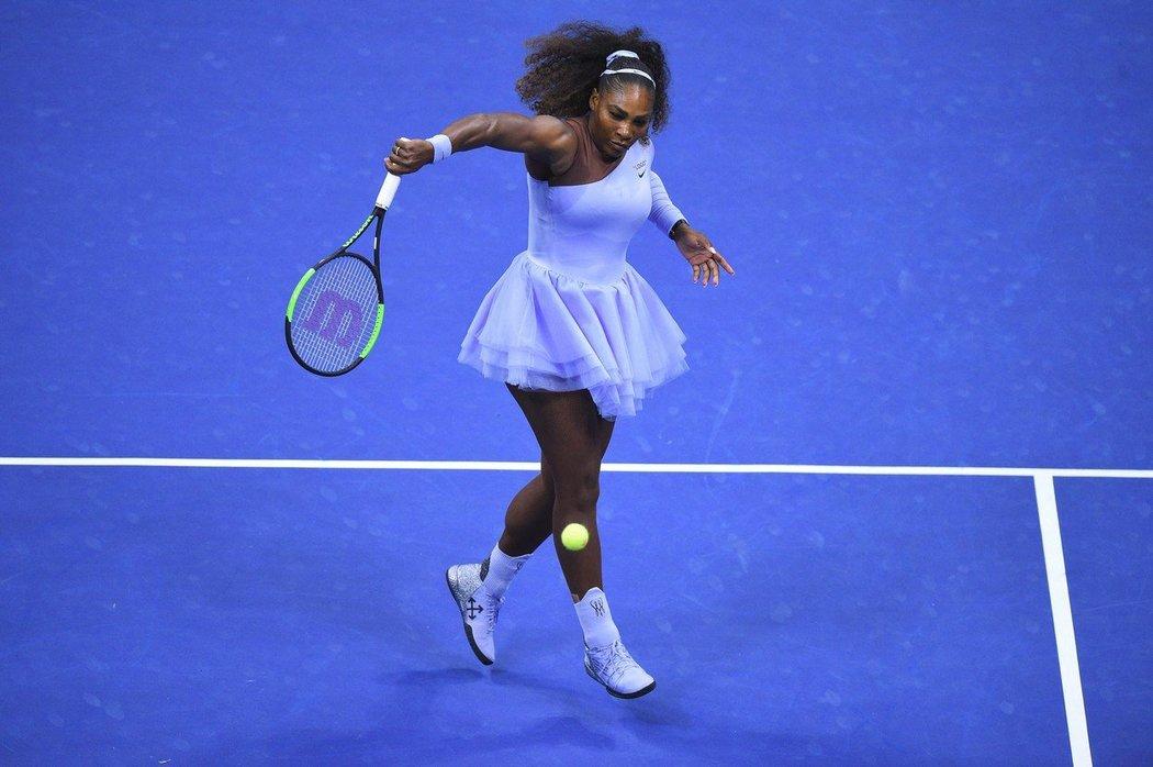 Serena Williamsová jakobaletka na kurtu