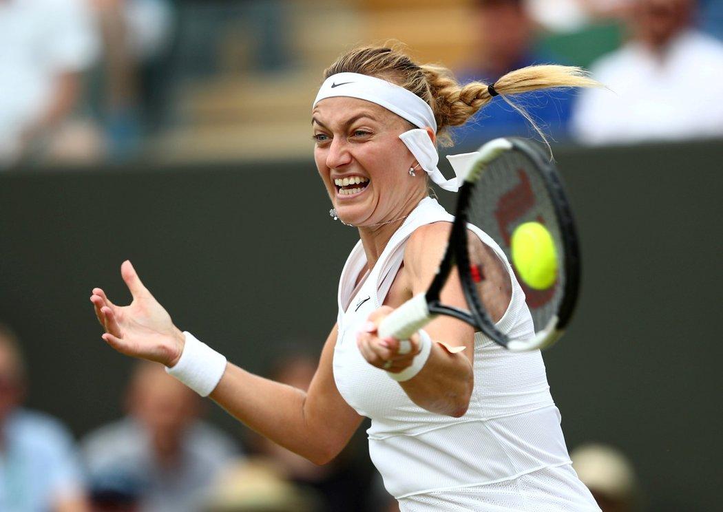 Petra Kvitová bojuje ve třetím kole Wimbledonu