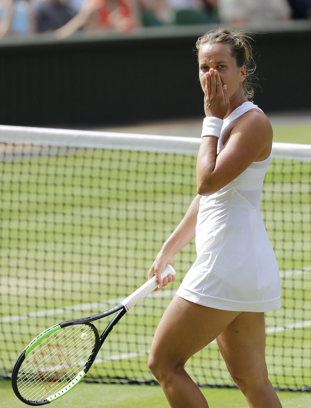 Barbora Strýcová musela v semifinále Wimbledonu uznat sílu legendární Američanky Sereny Williamsové