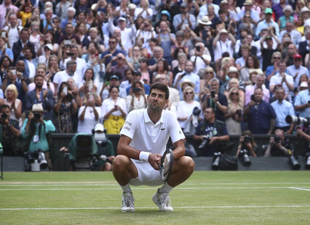 Novak Djokovič si užívá pocity štěstí po vítězném finále Wimbledonu
