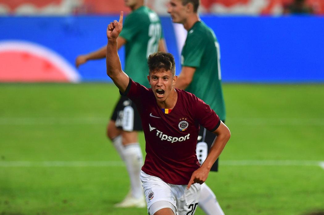 Mladík Adam Hložek dal svůj čtvrtý ligový gól