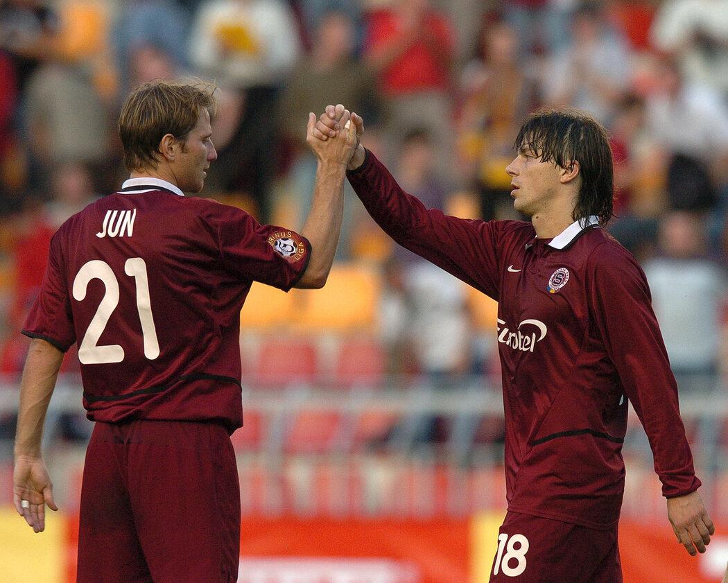 V útoku Sparty si Milan Pacanda notoval s Tomášem Junem