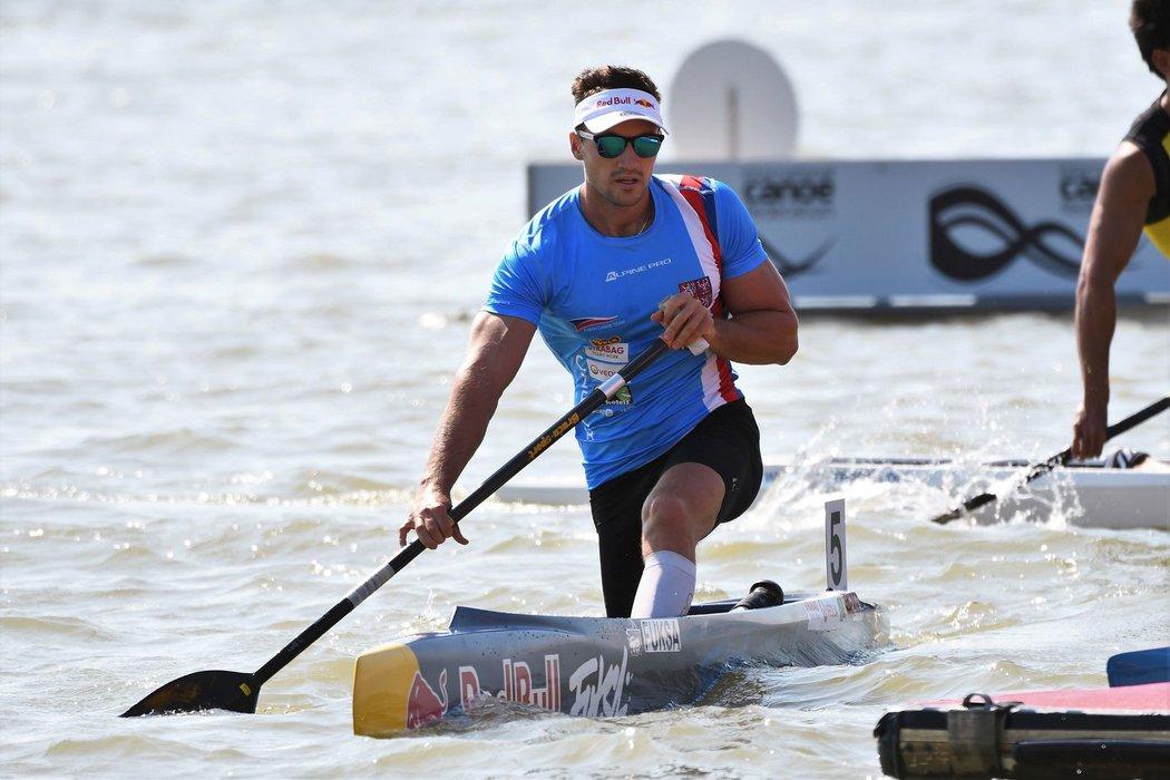 Kanoista Martin Fuksa na mistrovství světa v maďarském Szegedu