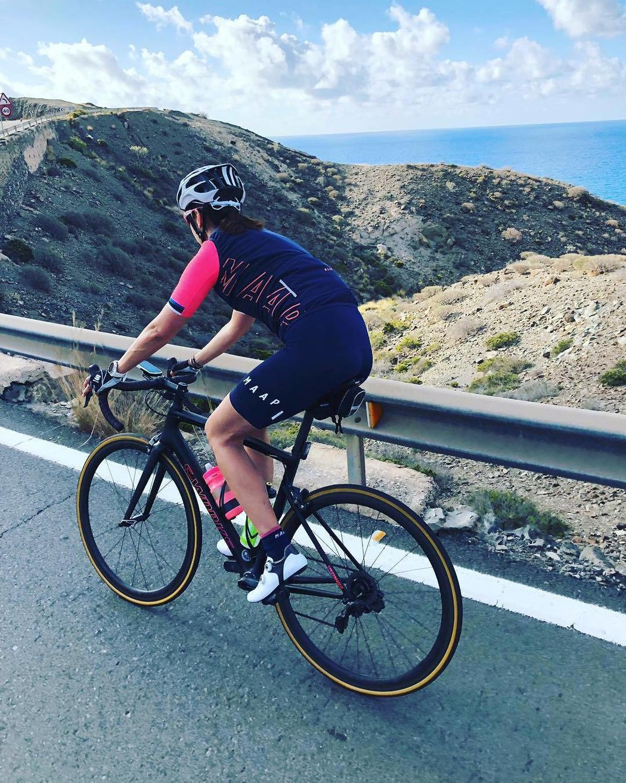 Michaeliným oblíbeným místem pro cyklistiku jsou Kanárské ostrovy.
