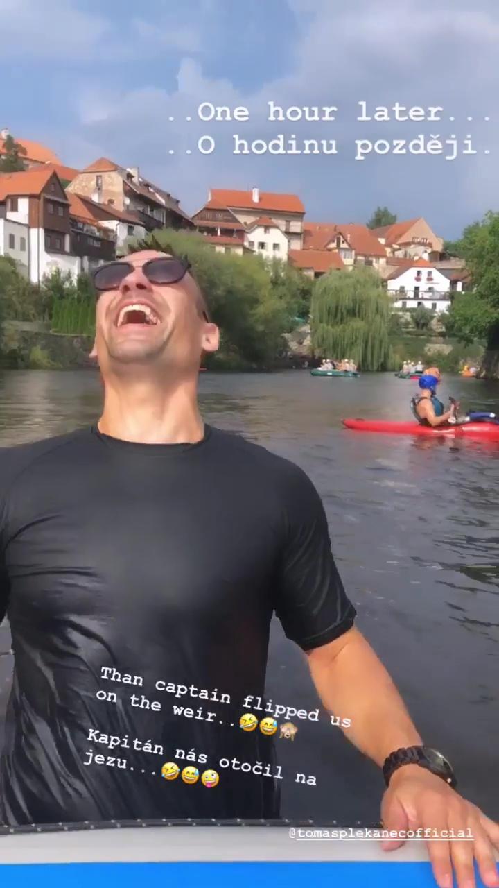 Tomáše Plekance jeho vodácké dovednosti rozesmáli