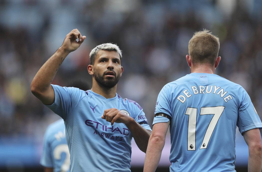 Sergio Agüero sestřelil Brighton dvěma trefami, jednu přidal i Kevin de Bruyne