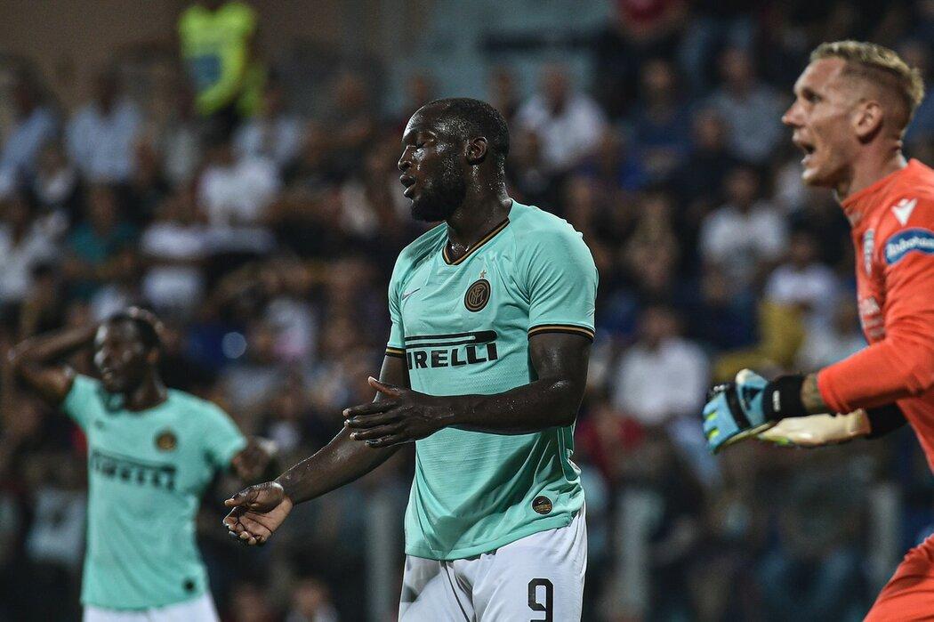 Romelu Lukaku dal rozhodující gól proti Cagliari, od fanoušků soupeře musel poslouchat urážky