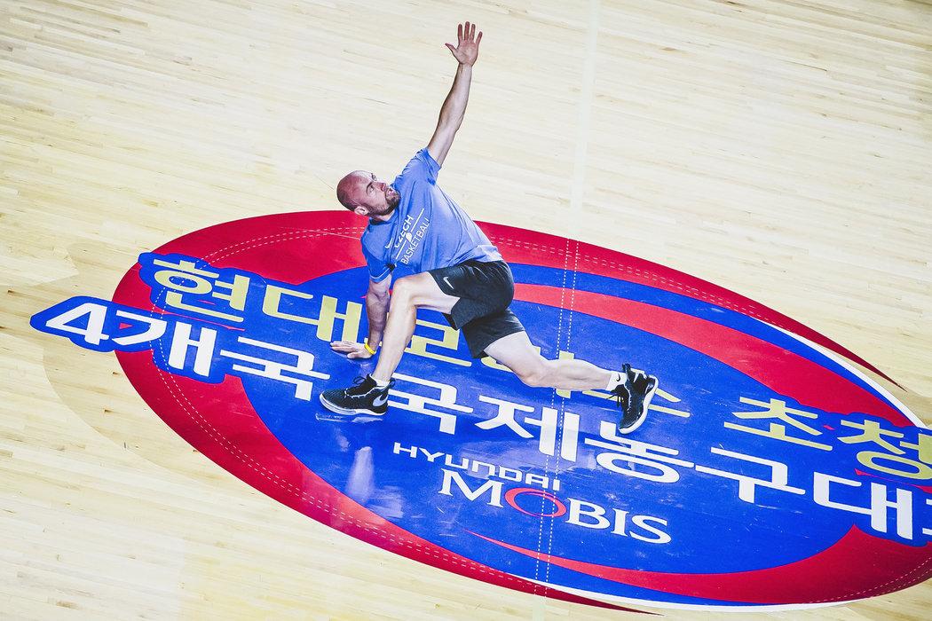 Kondiční trenér českých basketbalistů Michal Miřejovský na MS v Číně