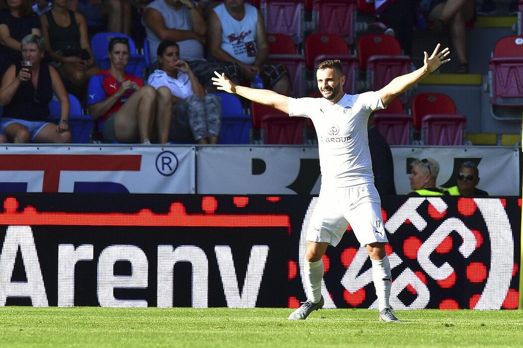 Radost Tomáše Zajíce z gólu