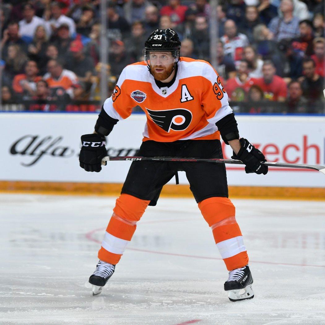Útočník Philadelphia Flyers Jakub Voráček během zápasu v O2 areně