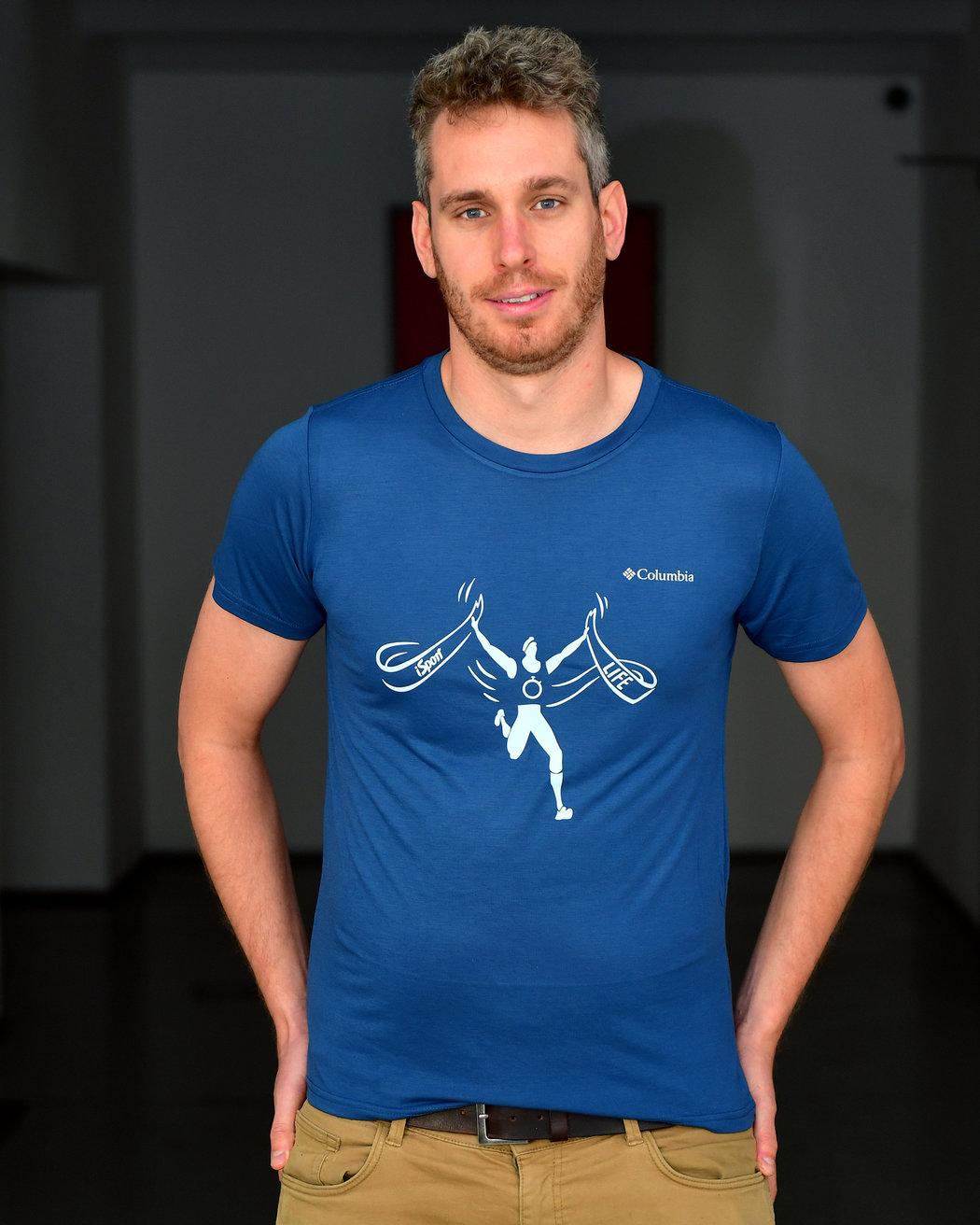 Funkční tričko Columbia s originálním potiskem iSport LIFE závodů