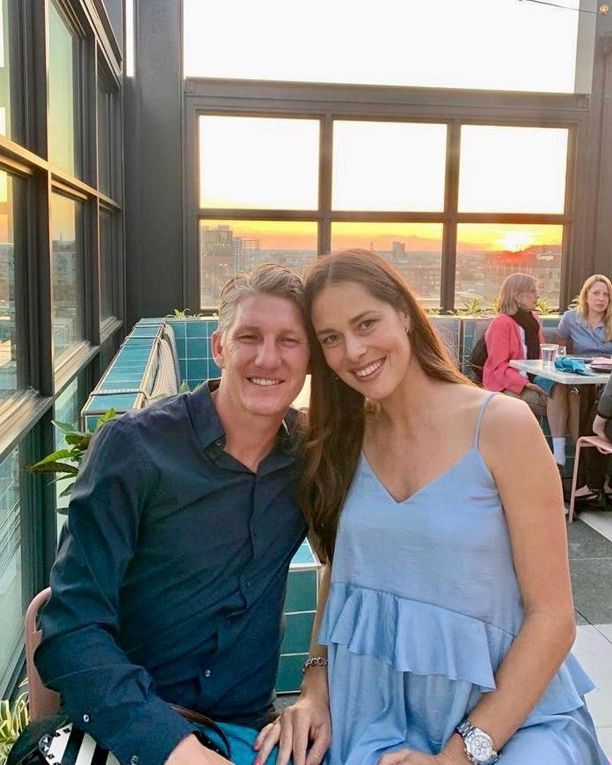 Bastian Schweinsteiger s krásnou partnerkou Anou Ivanovičovou