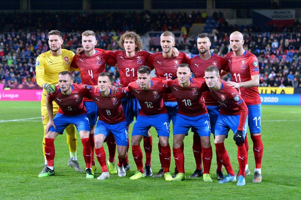 Česká fotbalová reprezentace před zápasem s Kosovem