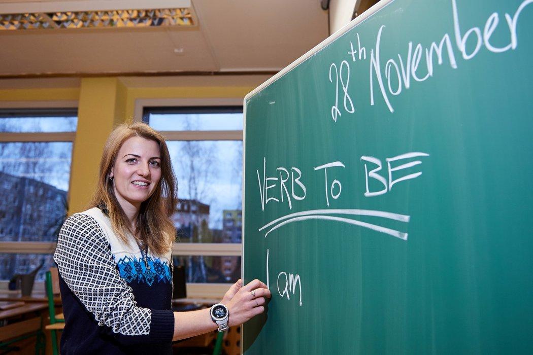 Bývalá biatlonistka Jitka Landová se nyní živí jako učitelka angličtiny a tělocviku