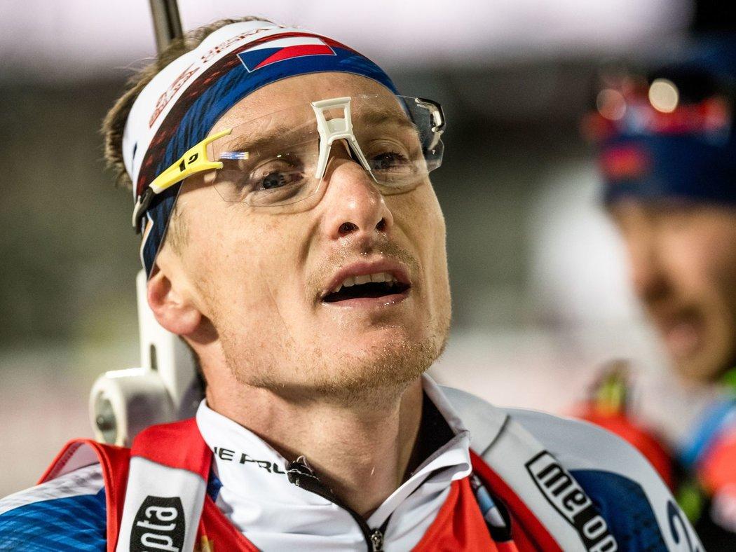Zkušený český biatlonista Ondřej Moravec