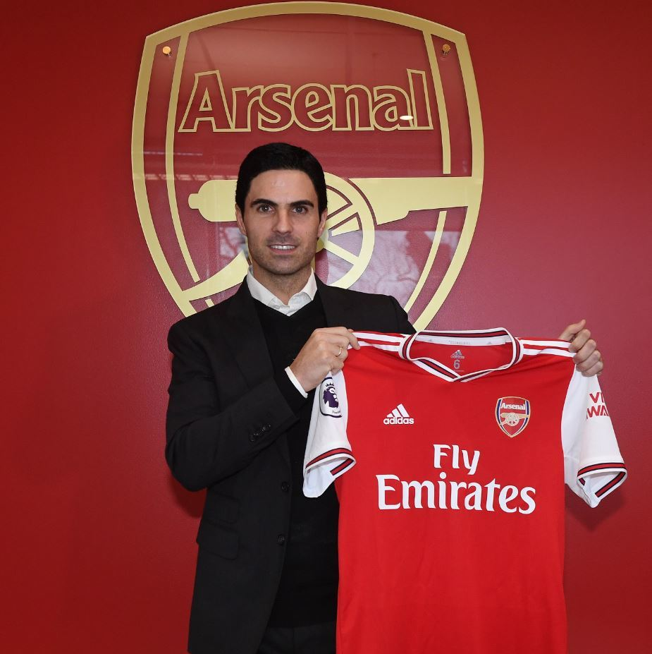 Trenér Arsenalu Mikel Arteta