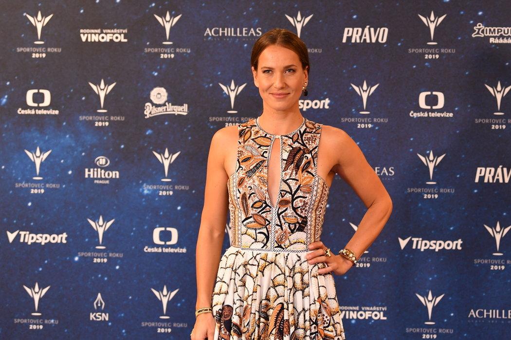 Tenistka Barbora Strýcová na vyhlášení Sportovce roku