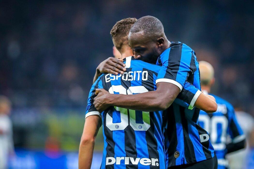 Gólová radost hráčů Interu