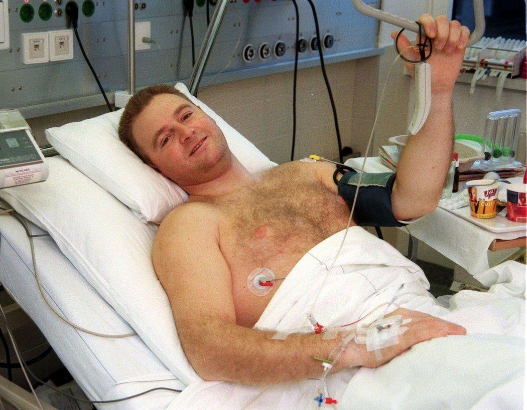 Patrick Ortlieb se dlouho vzpamatovával z drsné nehody v Kitzbühelu 1999