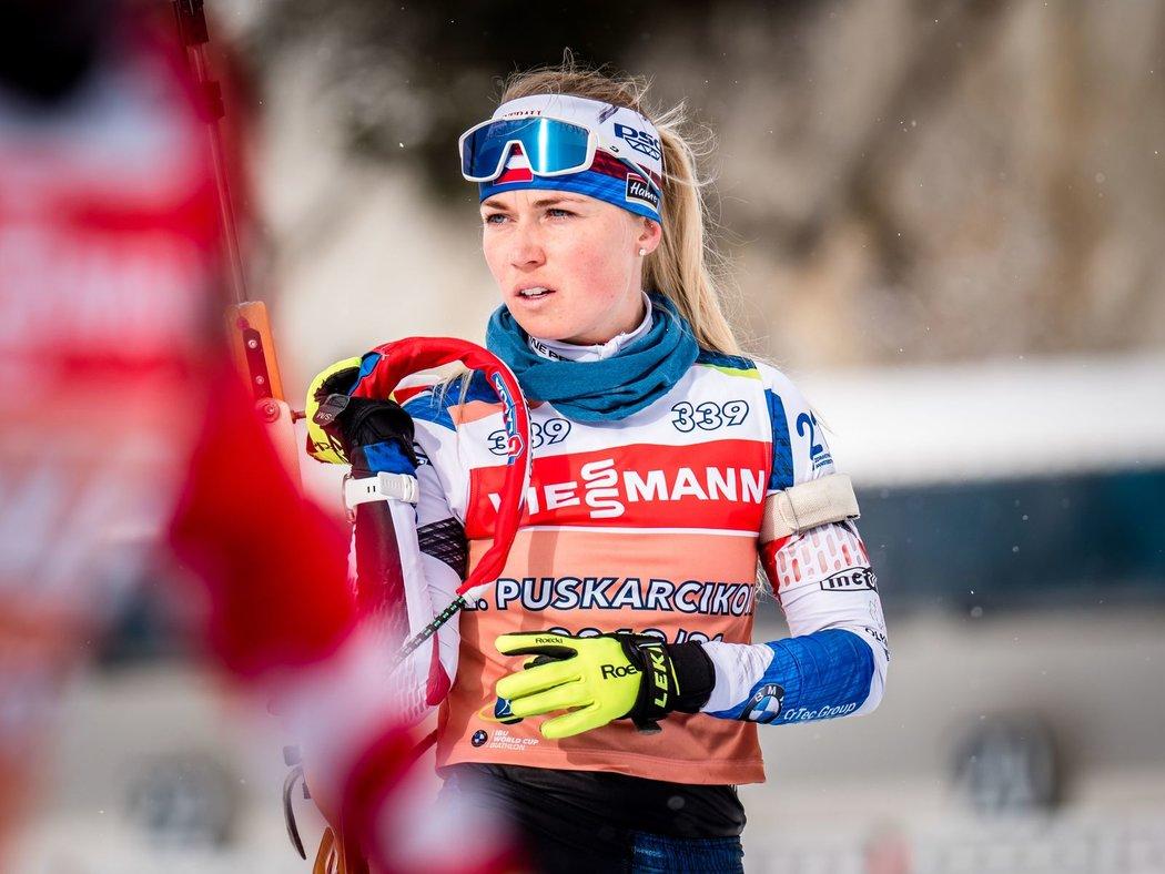 Eva Kristejn Puskarčíková bude rozjíždět českou smíšenou štafetu při čtvrtečním startu mistrovství světa v italské Anterselvě