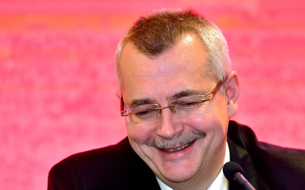 Šéf Slavie Jaroslav Tvrdík na tiskové konferenci před startem jarní části sezony