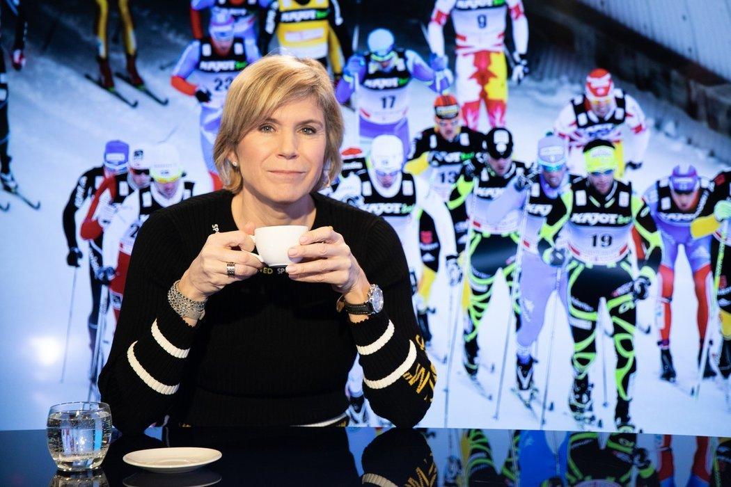 Kateřina Neumannová příležitostně komentuje i lyžařské závody