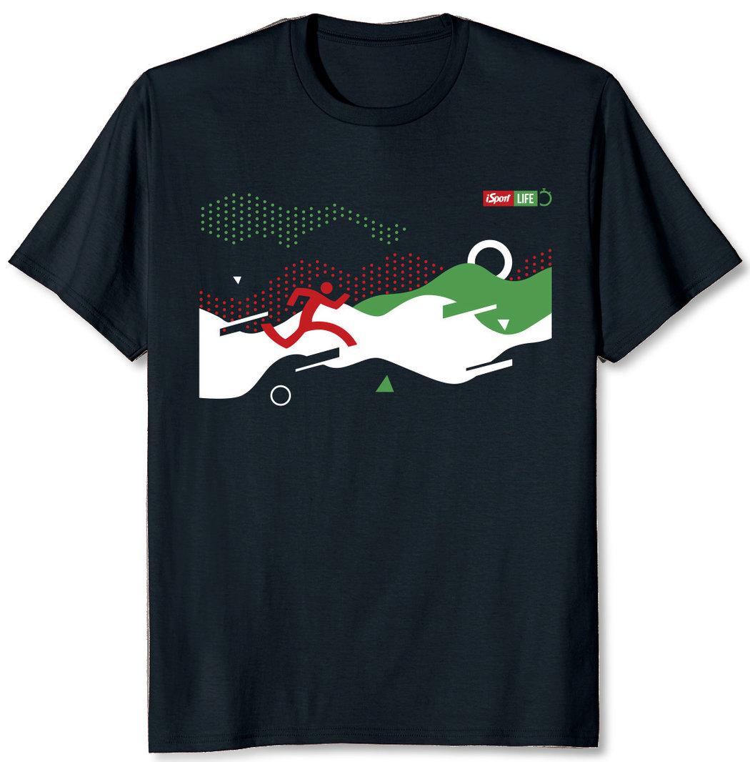 Tričko s běžeckou grafikou pro Columbia iSport LIFE závod v Milíčovském lese 2020