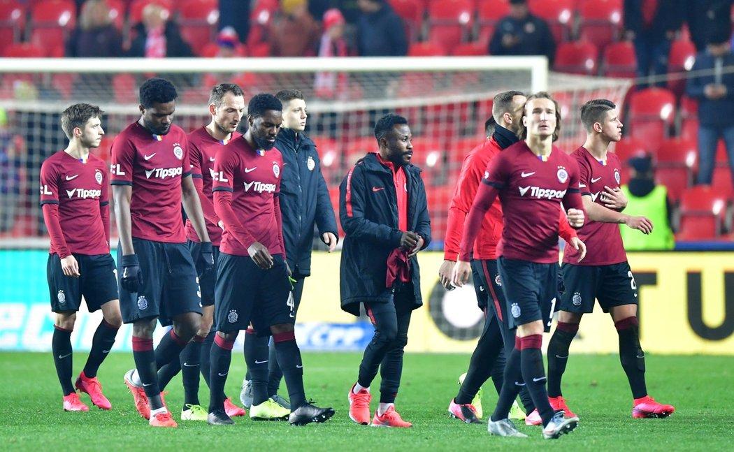 Fotbalisté Sparty po derby se Slavií (1:1)
