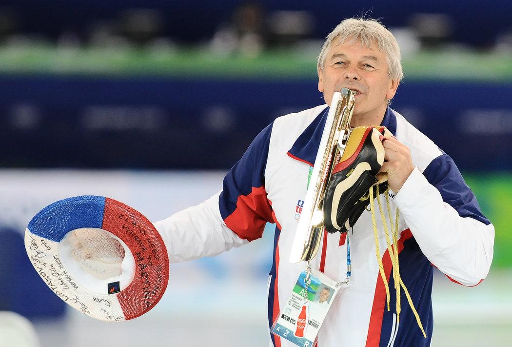 Trenér Martiny Sáblíkové Petr Novák na olympiádě ve Vancouveru