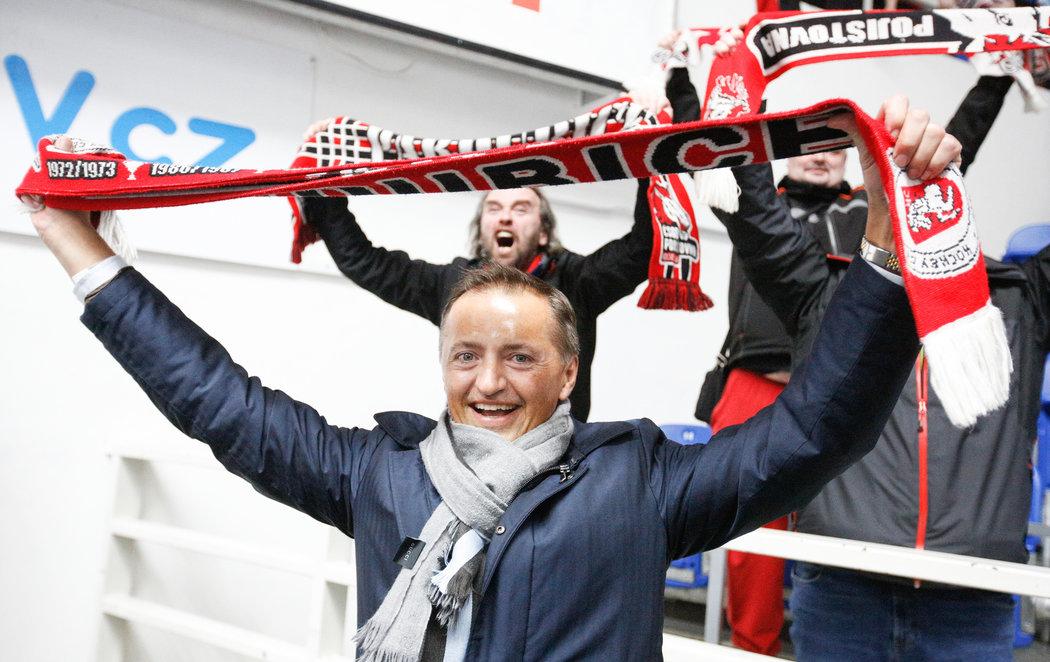 Petr Dědek podpořil Pardubice osobně i v rozhodujícím duelu v Brně