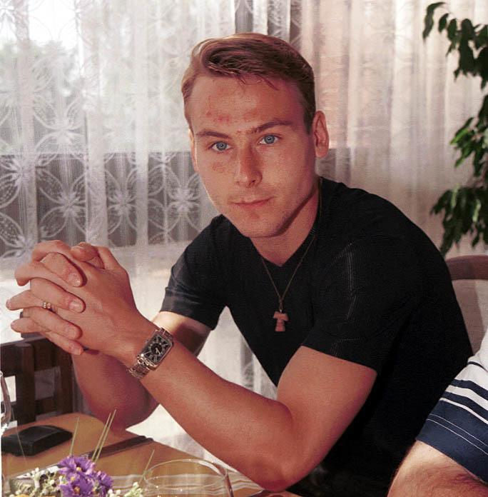 1999. Pavel Nedvěd na srazu české reprezentace.