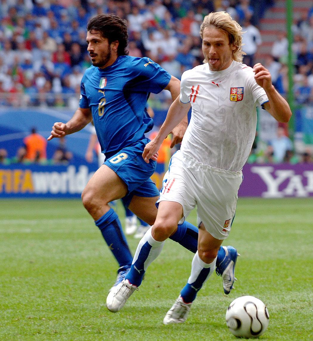 2006. Na mistrovství světa nechyběl Pavel Nedvěd u zápasu proti Itálii.
