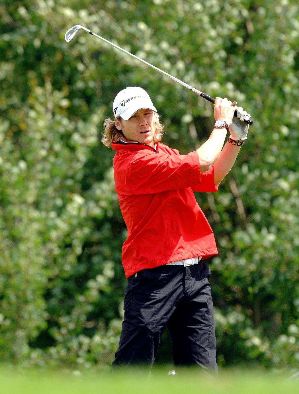 2007. Pavel Nedvěd na golfu v Mariánských lázních.