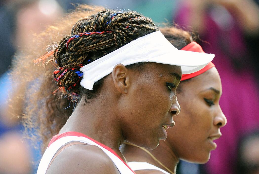 Sesterský pár Venus a Serena Williamsovy na olympijském turnaji v Londýně
