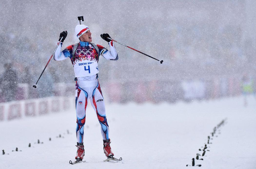 Medailová radost Ondřeje Moravce na olympiádě v Soči