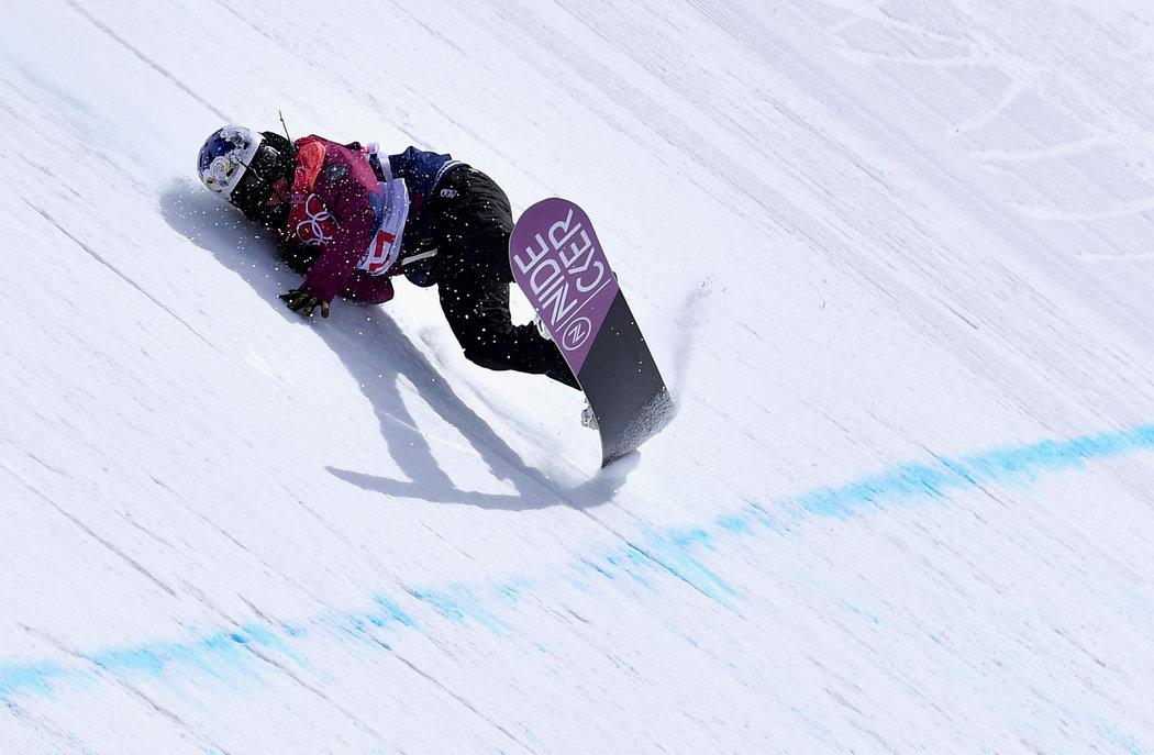 Pád české snowboardistky Šárky Pančochové na olympijských hrách