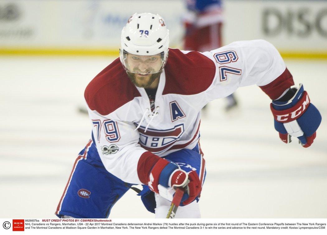 Andrej Markov ukončil v 41 letech kariéru. Mistr světa z roku 2008 strávil sedmnáct let v NHL, kde zůstal celou dobu věrný barvám Montrealu Canadiens.