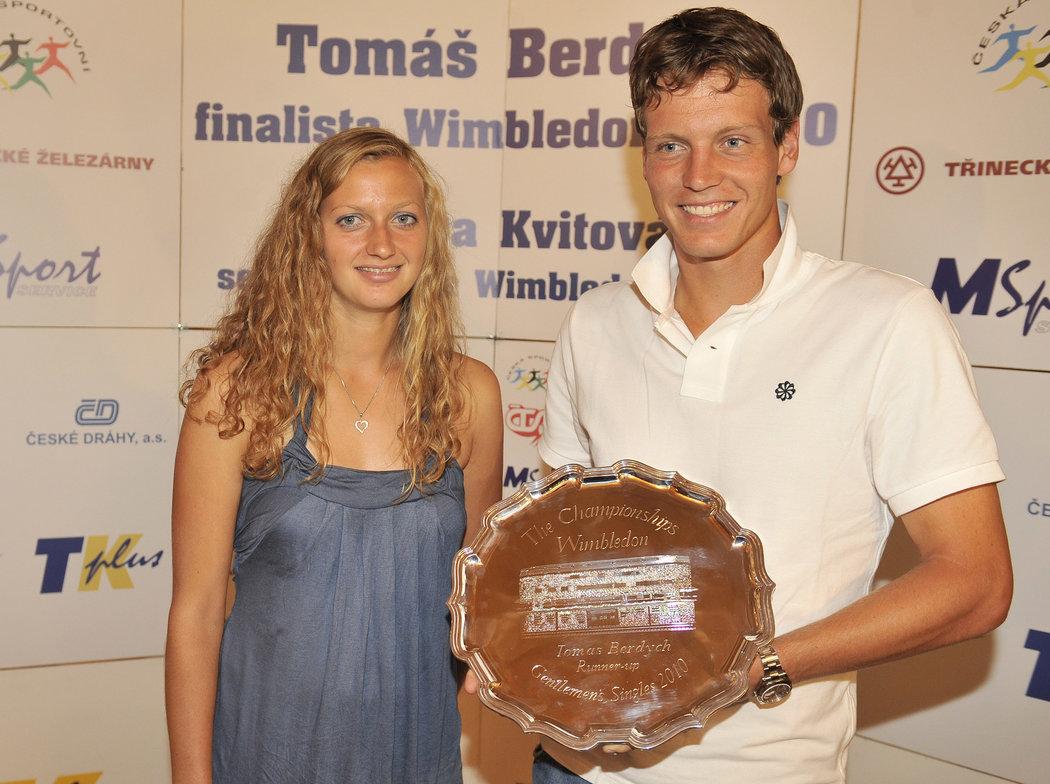 2010. S Tomášem Berdychem, v tom roce poraženým finalistou Wimbledonu.