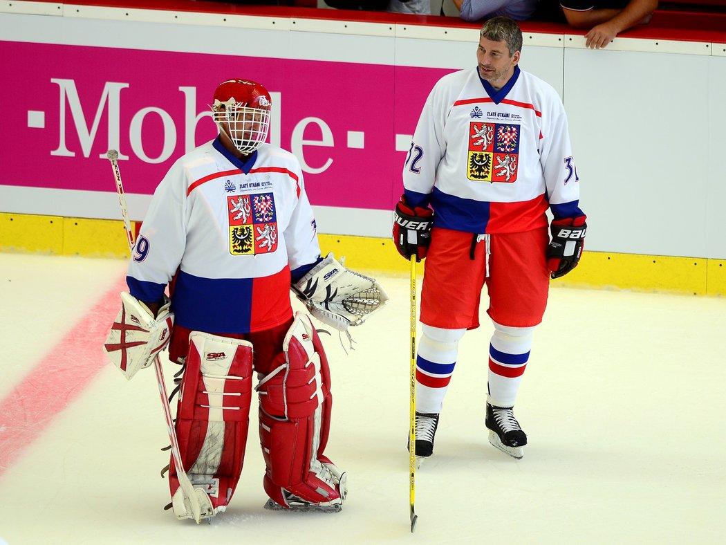 Richard Šmehlík (vlevo) s Dominikem Haškem se potkali jak v reprezentaci tak v Buffalu