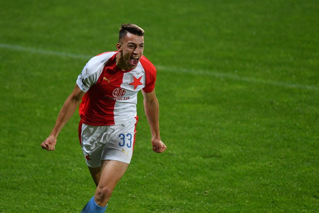 Petar Musa měl ohromnou radost, když vstřelil gól do sítě Příbrami