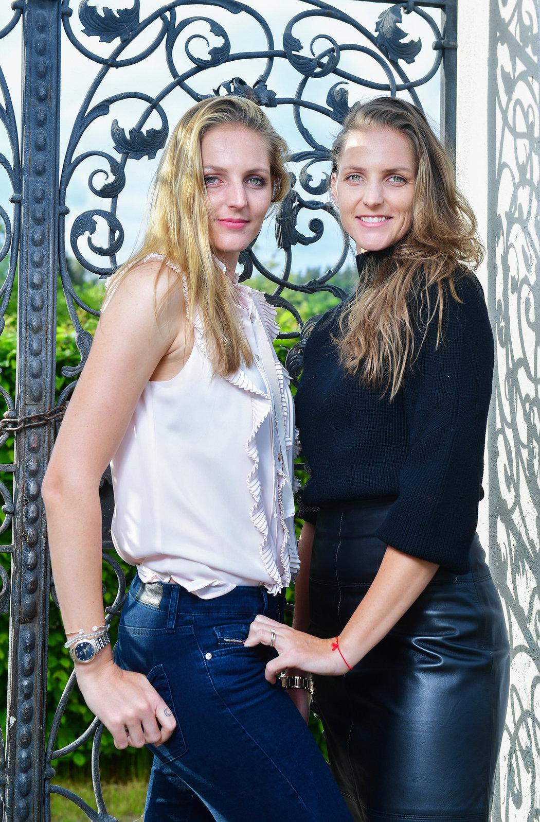 Slavné sestry Karolína (vpravo) a Kristýna Plíškovy